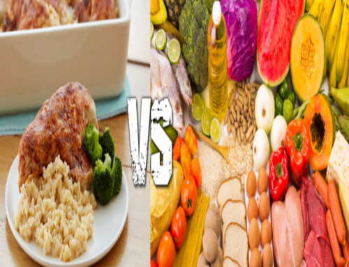 What people think eating healthy means Vs. what it really means.